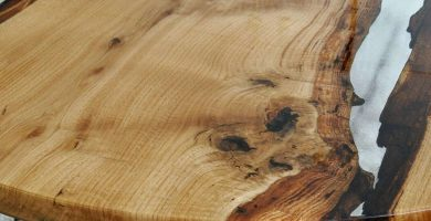 Mesa de madera y resina epoxi transparente cristal barata baratasa comprar precio precios barato baratos