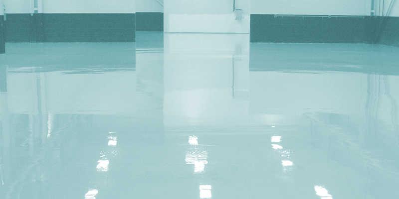 Suelo transparente de resina epoxi