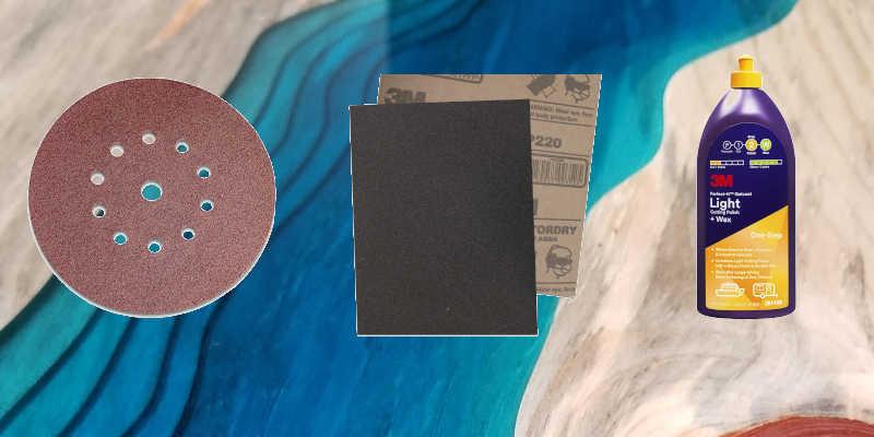 pulir, lijar, abrillantar resina epoxi cristal líquido porcelanatos gemelos