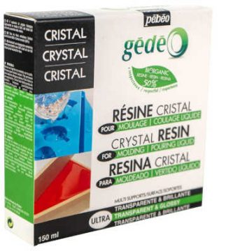 Resina epoxi ecológica bio cristal transparente Gédéo Pébéo